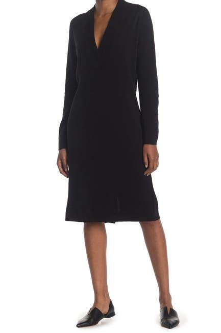 Image of CLUB MONACO Cross Front Sweater Dress