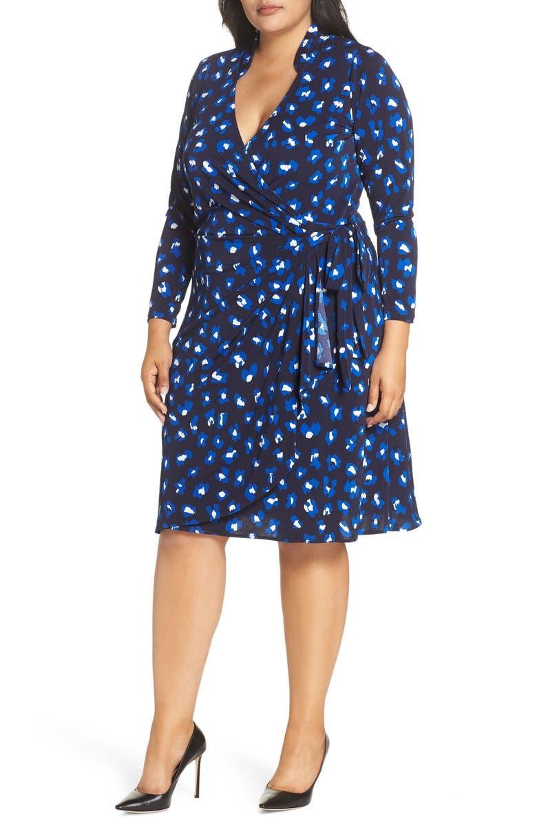 LEOTA Gabrielle Wrap Dress, Main, color, CHEETAH SPOT-CN