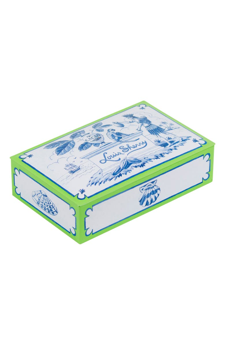 LOUIS SHERRY West Indies 12-Piece Chocolate Truffle Tin, Main, color, WHITE BLUE GREEN