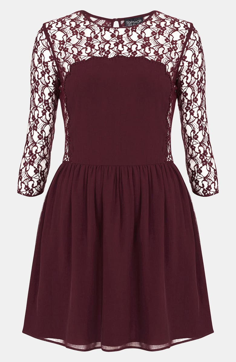 TOPSHOP 'Flippy' Dress, Main, color, 930