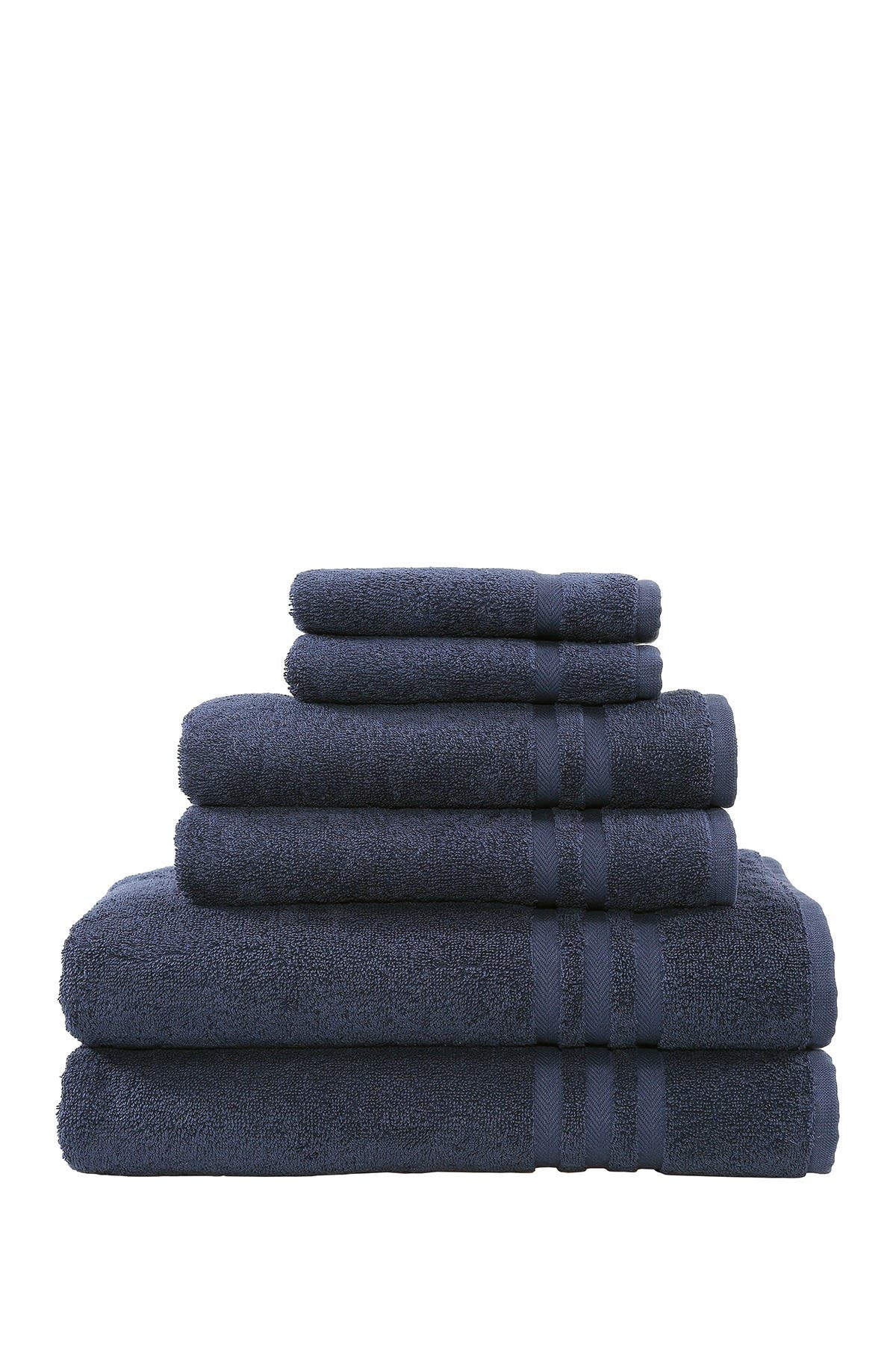 Image of LINUM HOME Denzi 6-Piece Towel Set - Twilight Blue