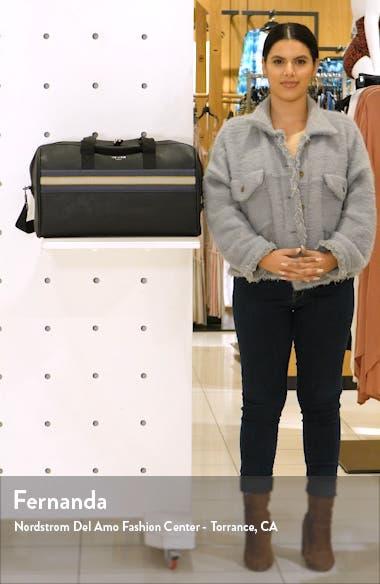 Ceviche Faux Leather Duffle Bag, sales video thumbnail