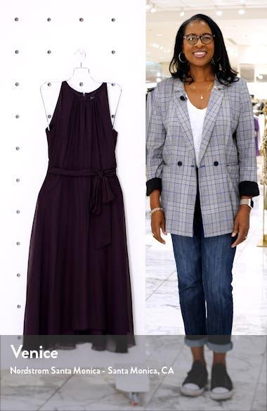 Sleeveless Chiffon Fit & Flare Dress, sales video thumbnail