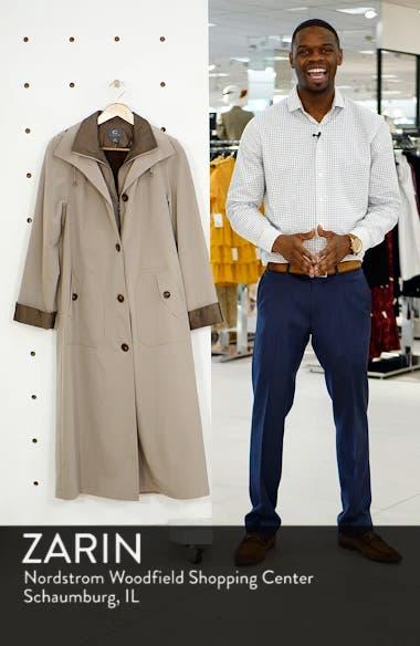 Full Length Two-Tone Silk Look Raincoat, sales video thumbnail