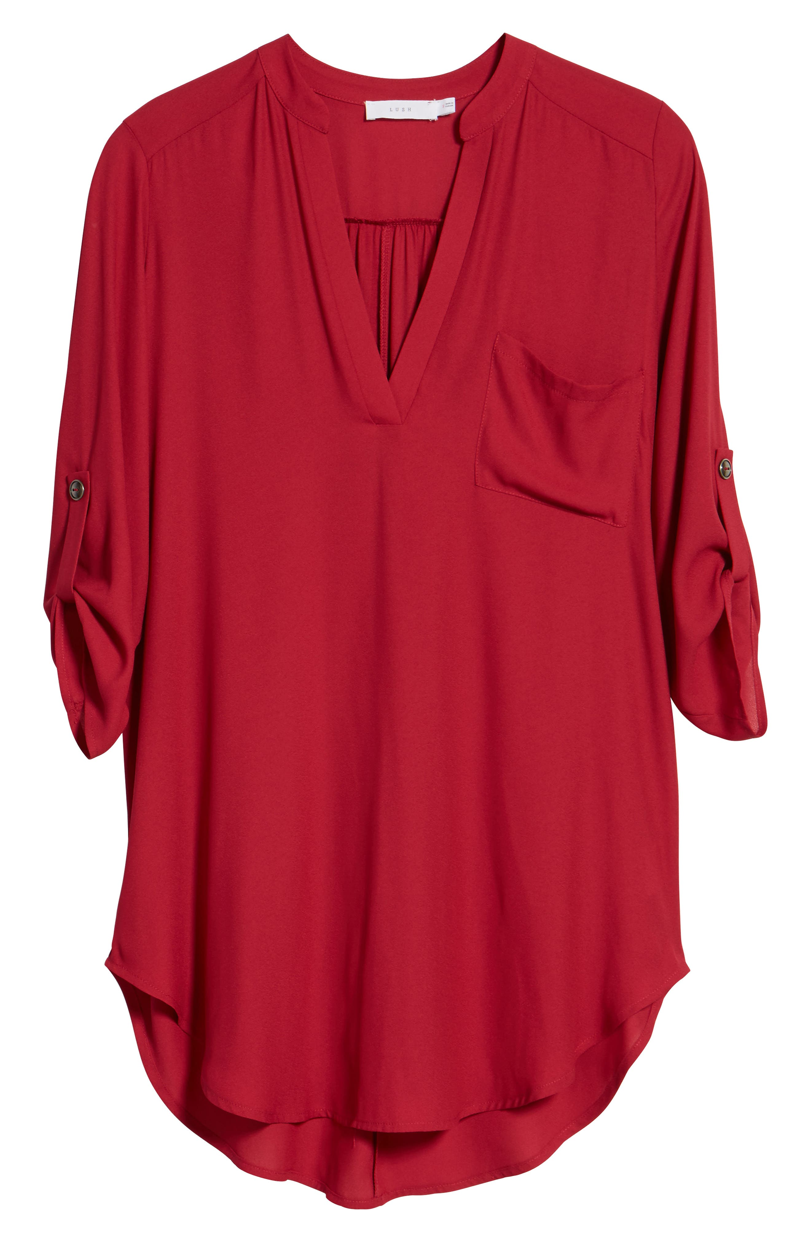 ,                             Perfect Roll Tab Sleeve Tunic,                             Alternate thumbnail 404, color,                             698
