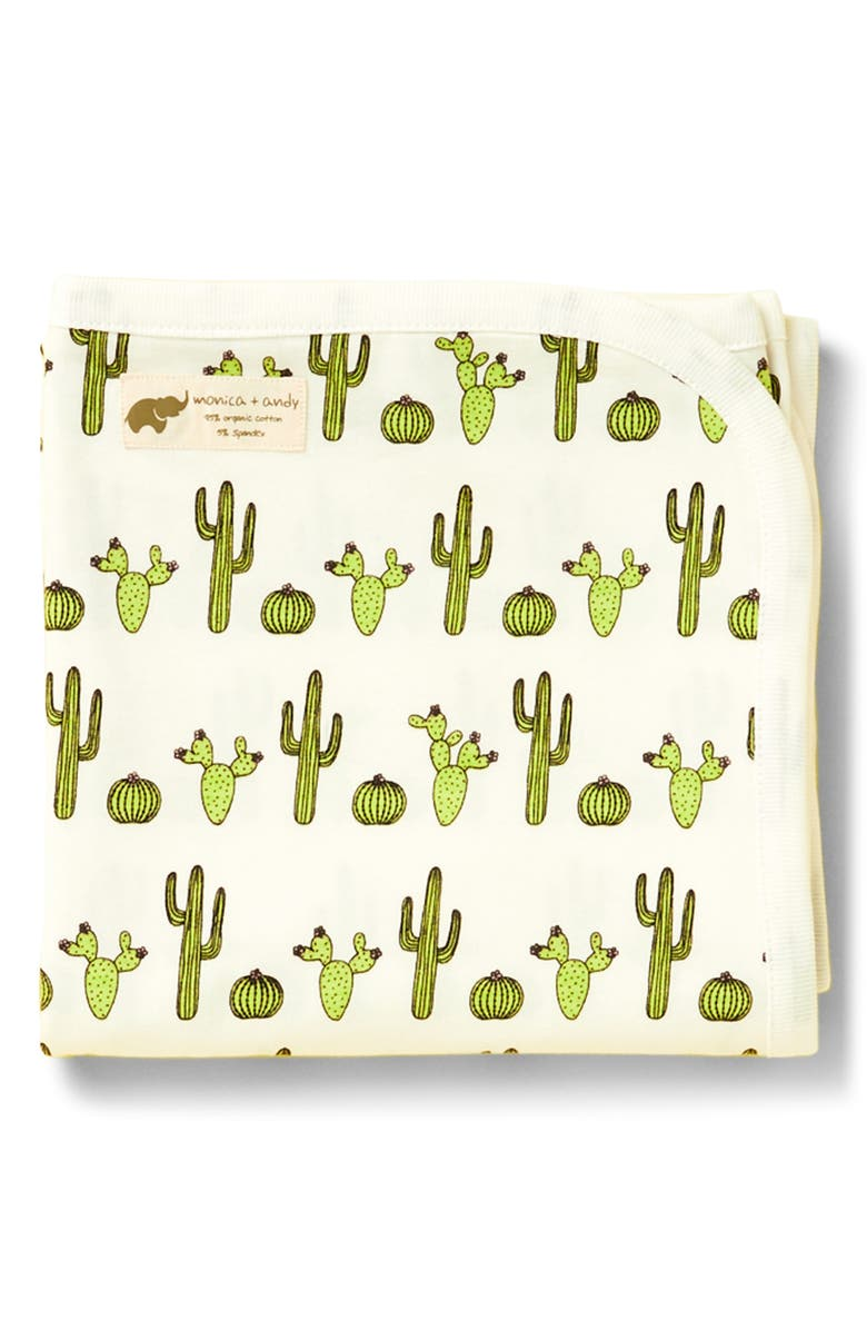 MONICA + ANDY Cactus Coming Home Blanket, Main, color, CACTUS