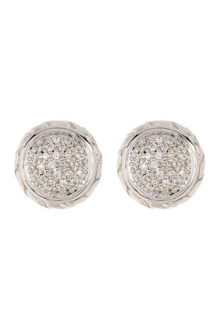 Image of JOHN HARDY Sterling Silver Diamond Earrings - 0.37 ctw