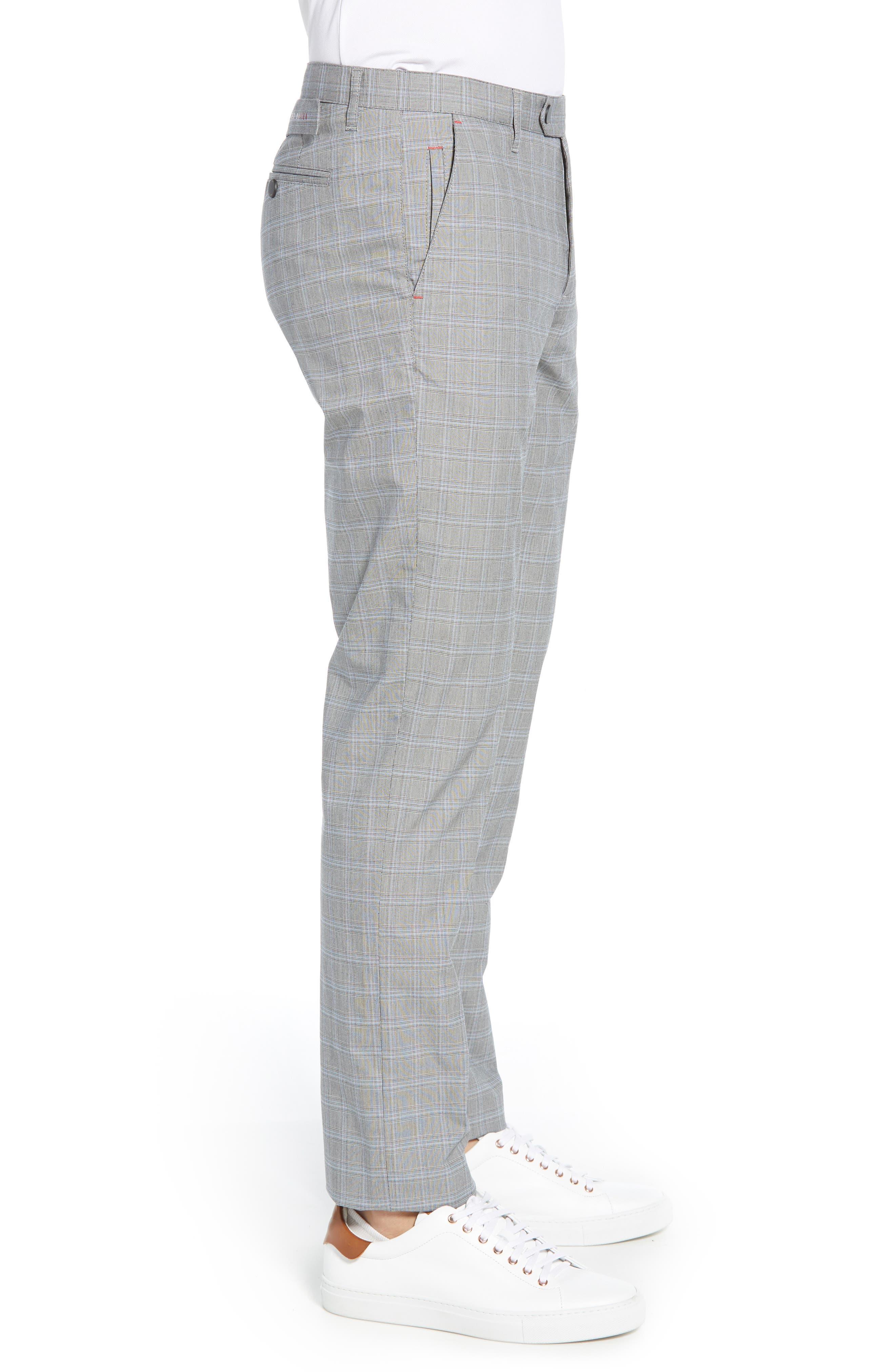 ,                             Snoopd Slim Fit Check Golf Pants,                             Alternate thumbnail 4, color,                             GREY