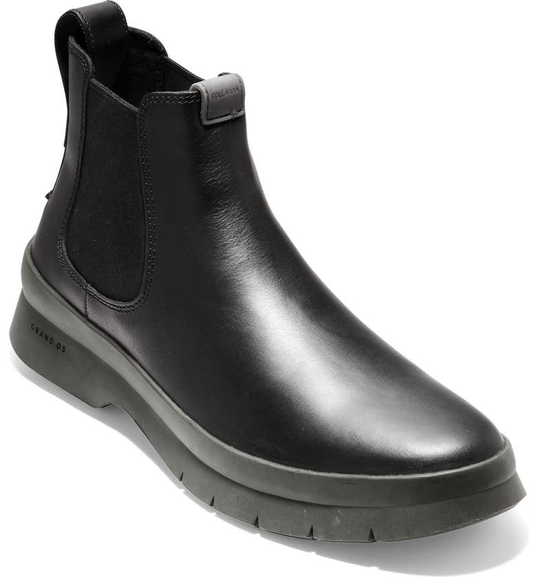 COLE HAAN Pinch Utility Waterproof Chelsea Boot, Main, color, 001