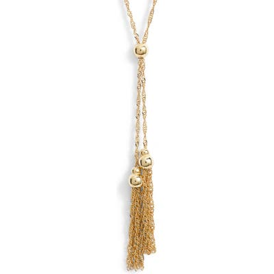 Loren Stewart Chain Tassel Pendant Necklace