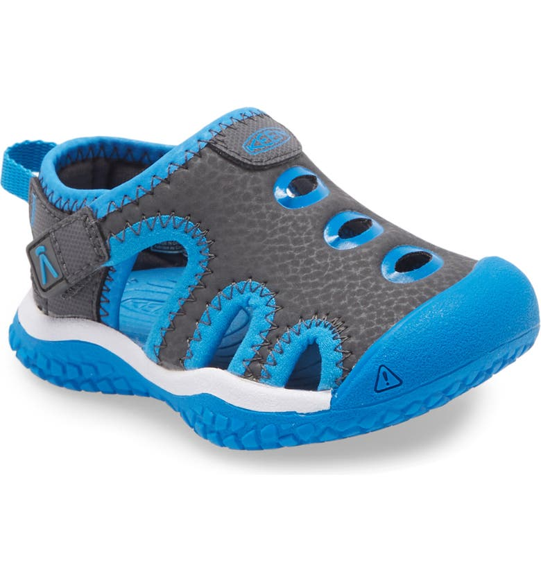 KEEN Stingray Sandal, Main, color, MAGNET/ BRILLIANT BLUE