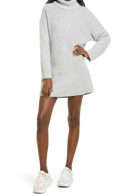 Image of WAYF Culver Turtleneck Long Sleeve Sweater Dress