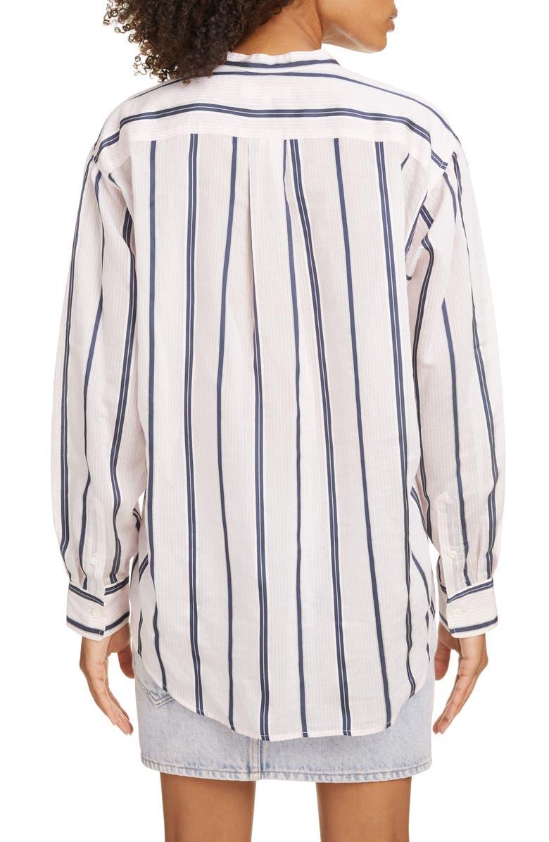 ISABEL MARANT ÉTOILE Satchell Stripe Shirt, Main, color, LIGHT PINK