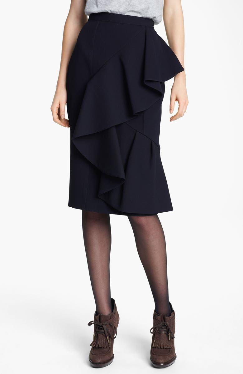 BURBERRY PRORSUM Ruffled Skirt, Main, color, 412