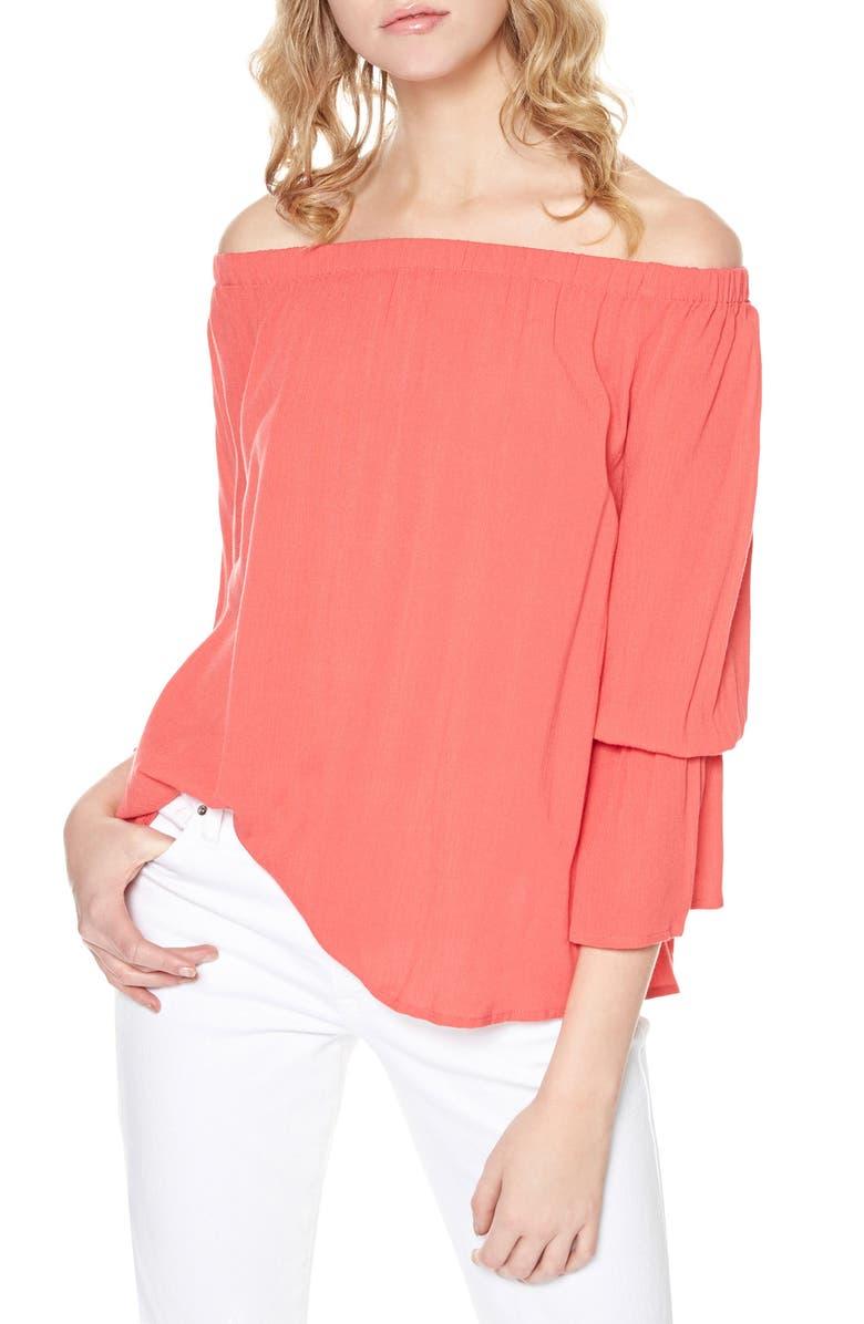 SANCTUARY Off the Shoulder Blouse, Main, color, 950
