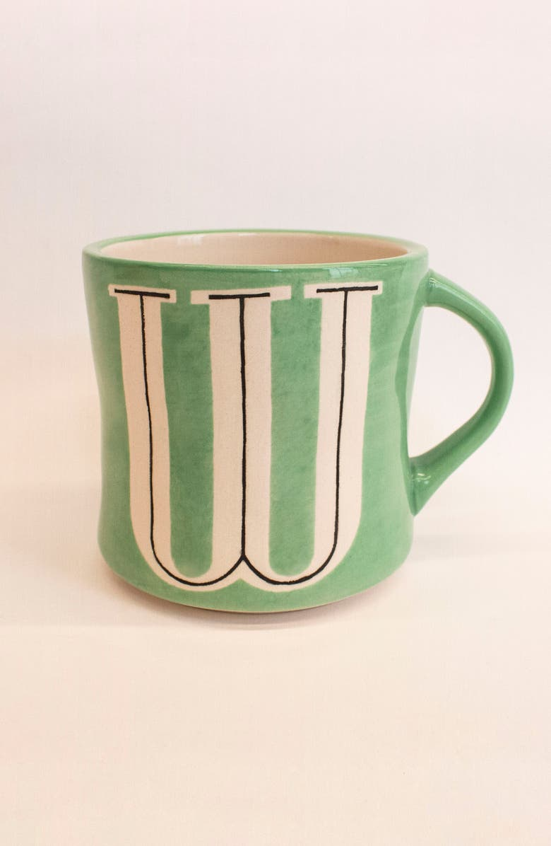 ANTHROPOLOGIE Mia Monogram Mug, Main, color, W