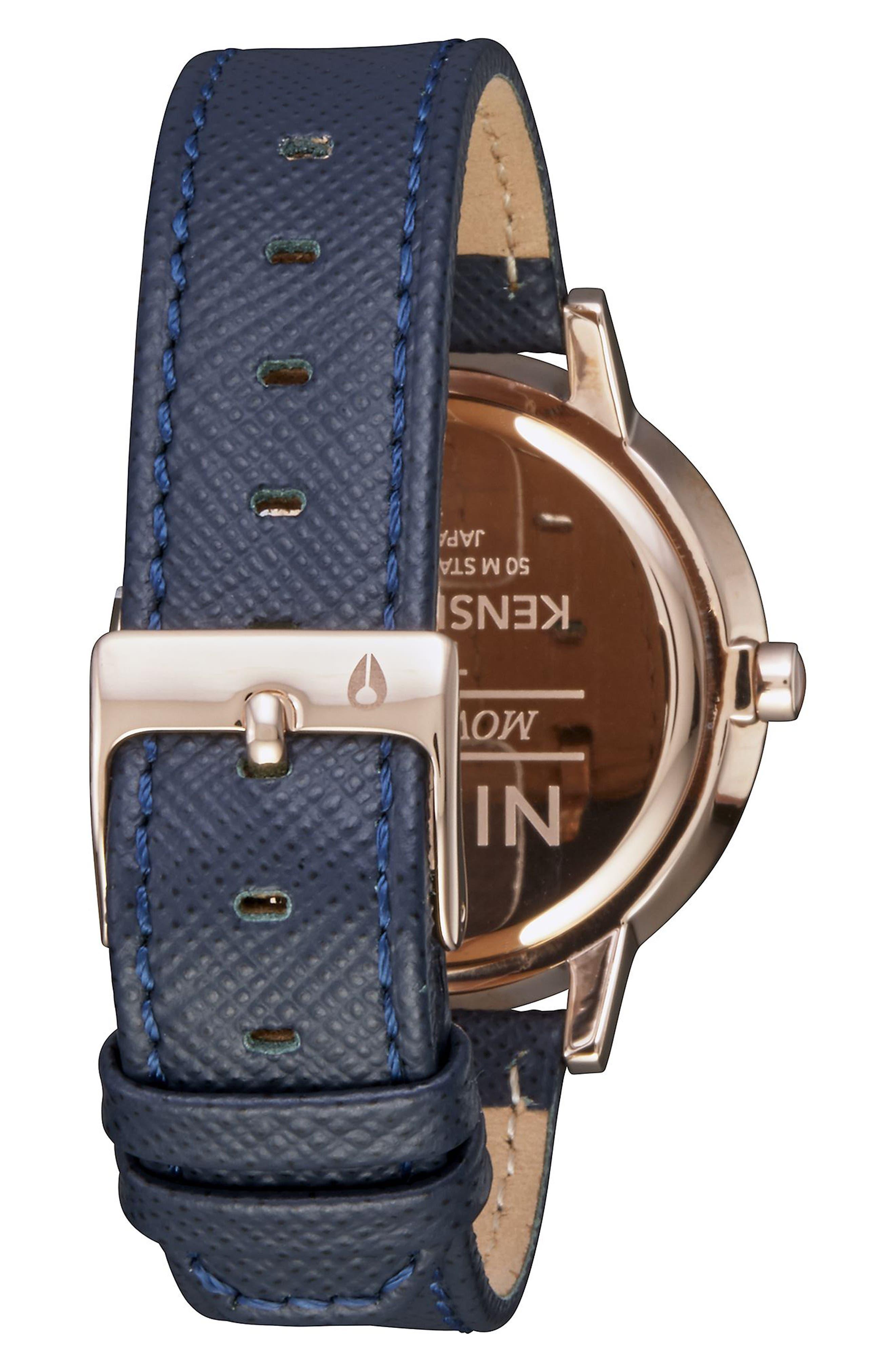 ,                             'The Kensington' Leather Strap Watch, 37mm,                             Alternate thumbnail 37, color,                             401