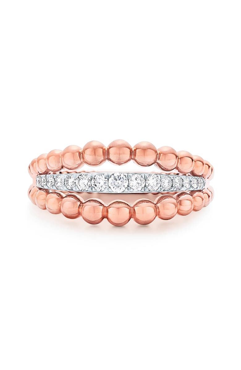 KWIAT Beaded Diamond Ring, Main, color, ROSE GOLD