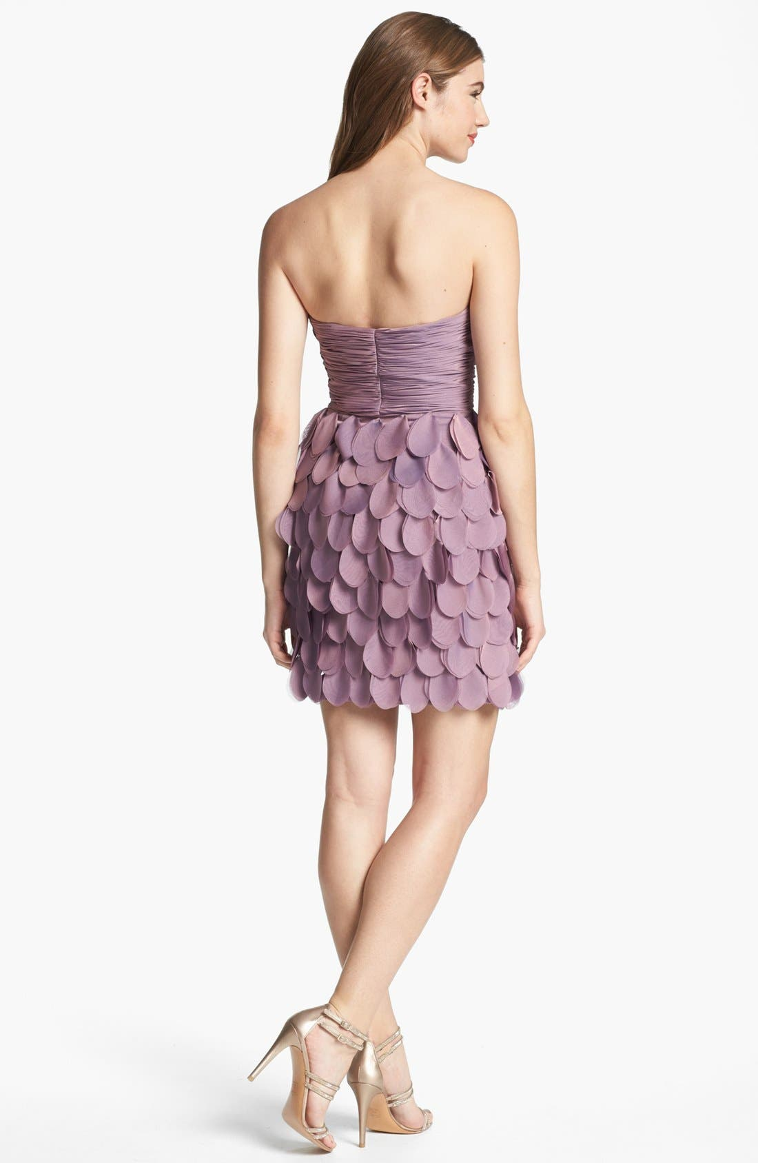 ,                             Strapless Tiered Cocktail Dress,                             Alternate thumbnail 2, color,                             531