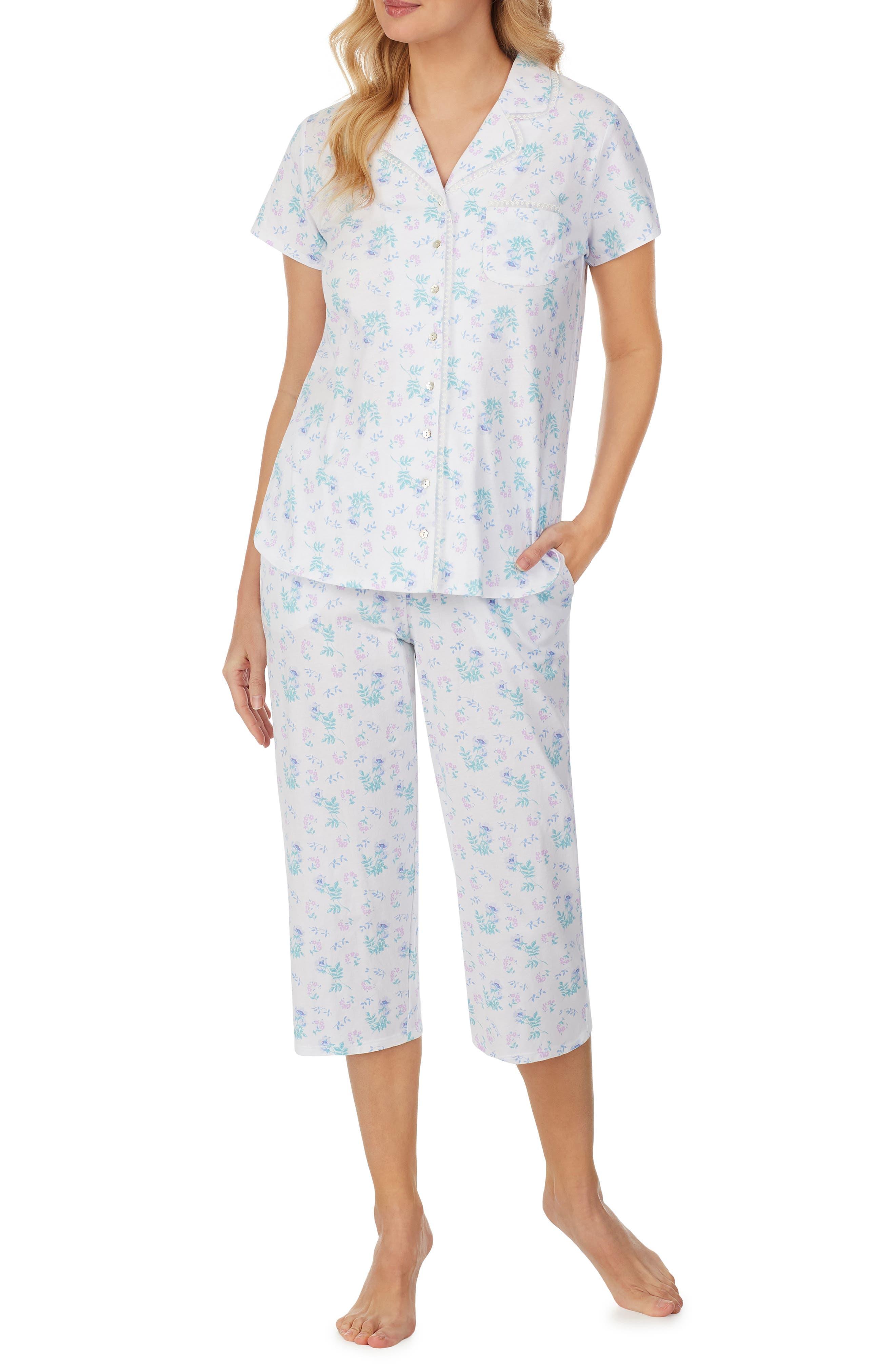 Short Sleeve Capri Pajamas