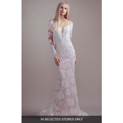 Blush By Hayley Paige Jameson Off The Shoulder Long Sleeve Lace Wedding Dress