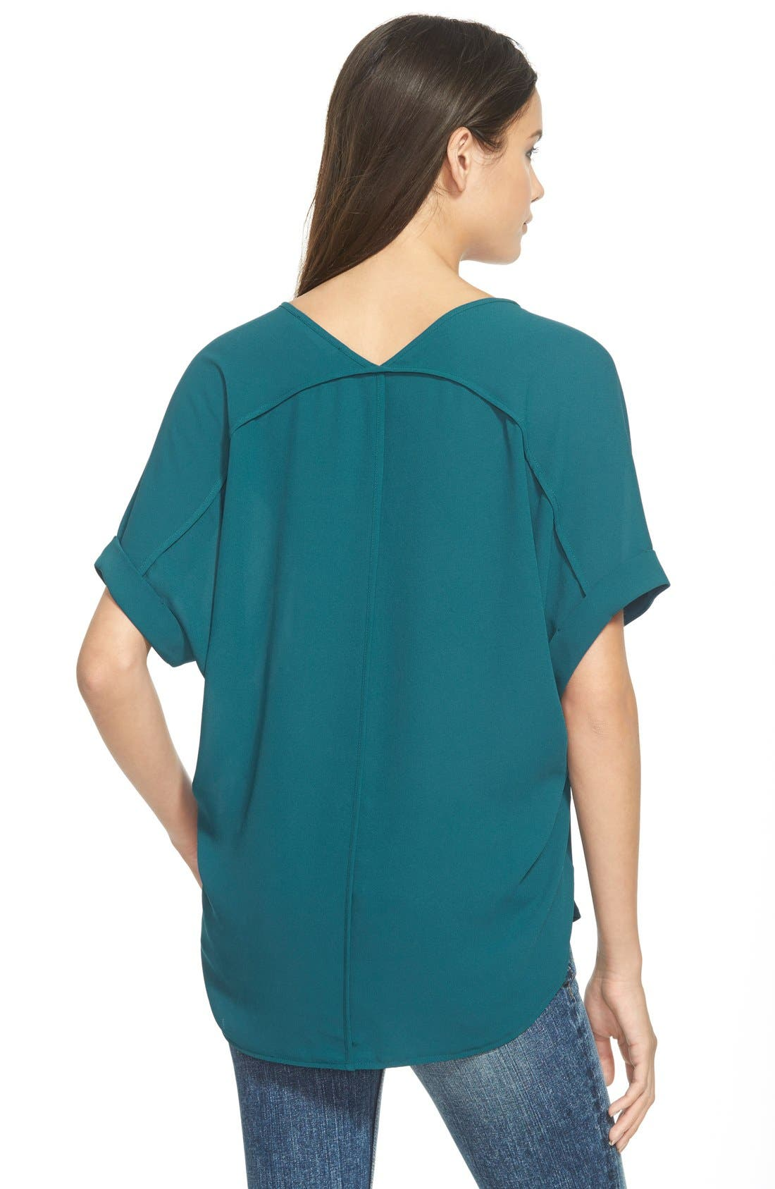 ,                             Lush Cuff Sleeve Woven Tee,                             Alternate thumbnail 106, color,                             417