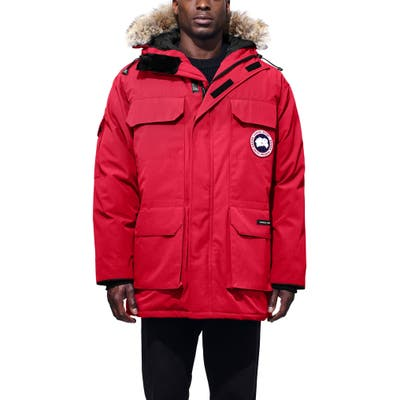 Canada Goose Pbi Expedition Regular Fit Down Parka With Genuine Coyote Fur Trim, Red