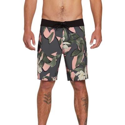 Volcom Window Pane Mod 19 Board Shorts, Grey
