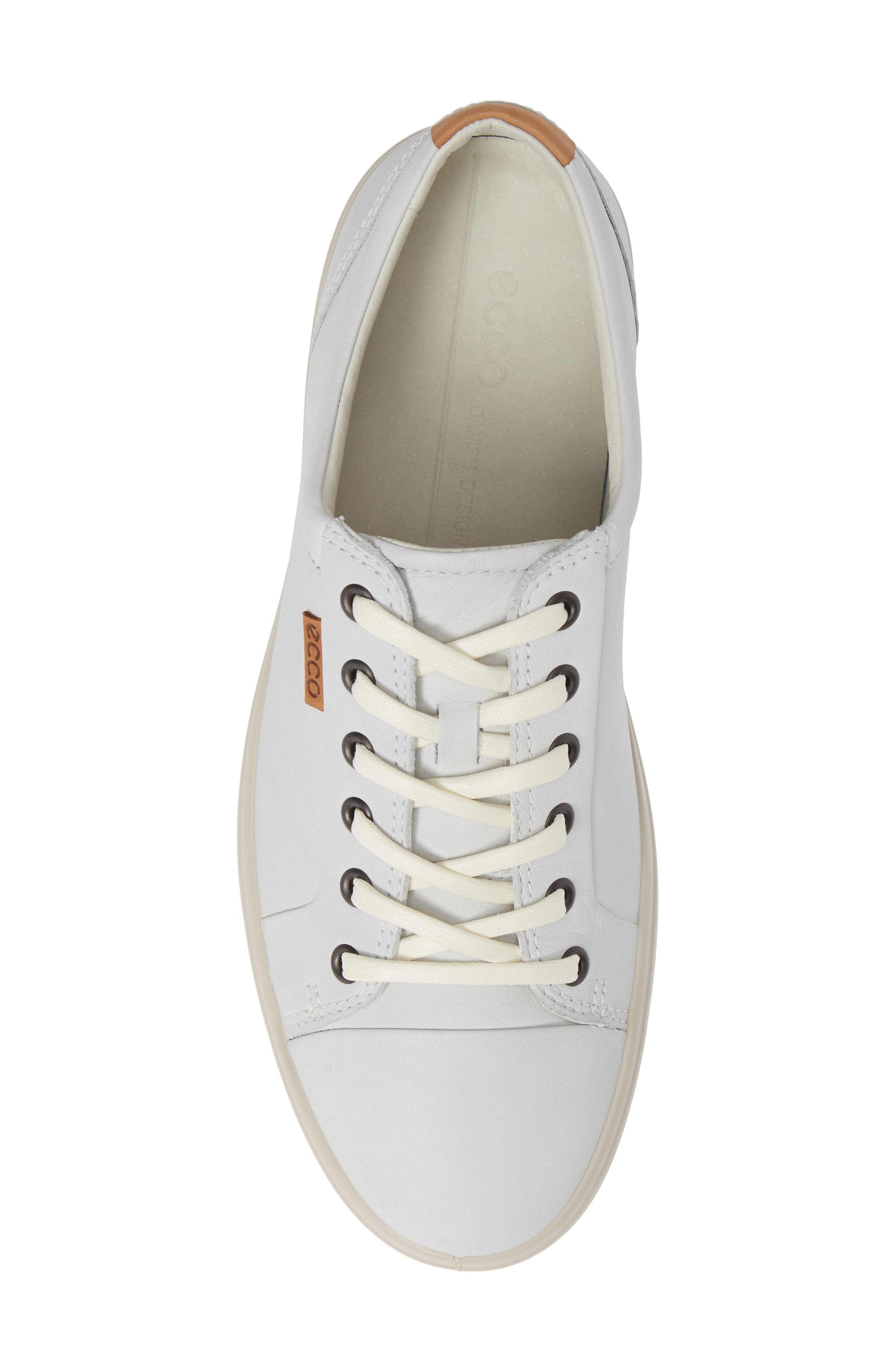 ,                             Soft VII Lace-Up Sneaker,                             Alternate thumbnail 5, color,                             WHITE LEATHER