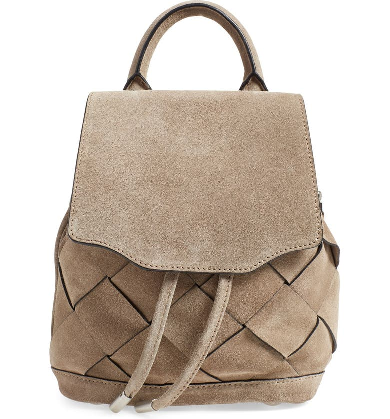 RAG & BONE 'Micro Pilot' Woven Suede Backpack, Main, color, 021