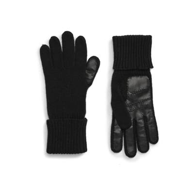 Nordstrom Signature Leather Palm Cashmere Gloves