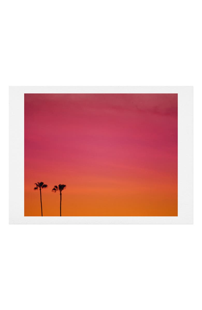 DENY DESIGNS Catherine McDonald - Los Angeles Sunset Art Print, Main, color, PINK