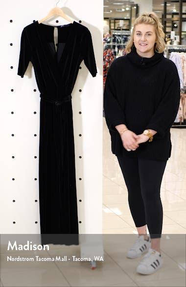 x Glam Jessica Fay Velvet Wrap Jumpsuit, sales video thumbnail