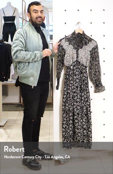 Floral Lace Long Sleeve Shirtdress, sales video thumbnail