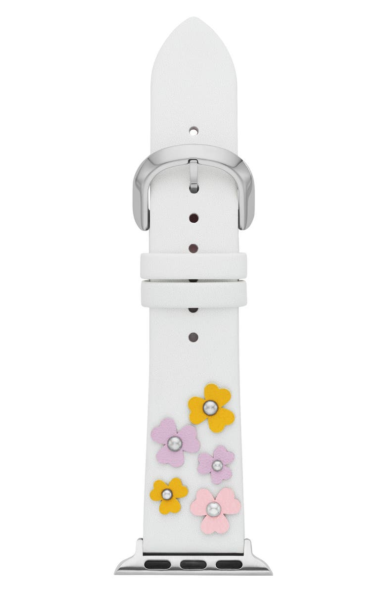 KATE SPADE NEW YORK Apple Watch<sup>®</sup> strap, 38mm, Main, color, WHITE