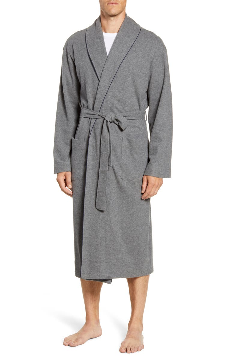 MAJESTIC INTERNATIONAL Greywaters Cotton Blend Robe, Main, color, CHARCOAL