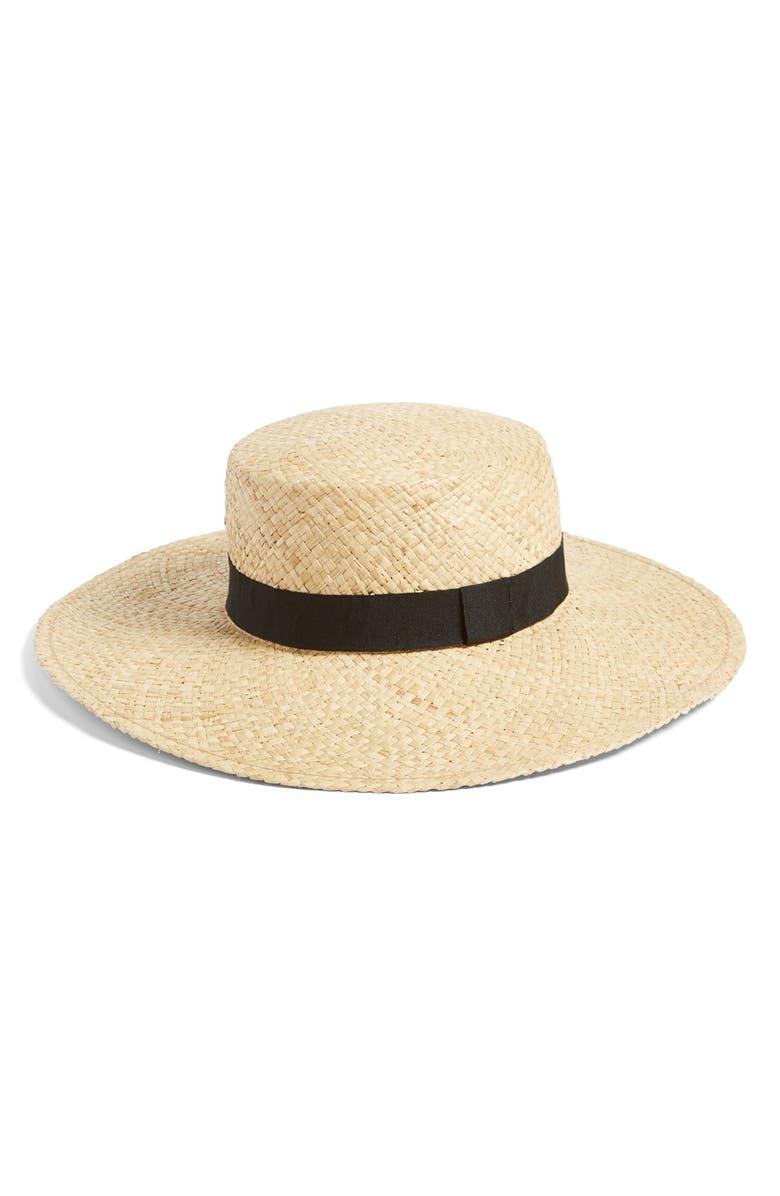 BP. BP Wide Brim Raffia Boater Hat, Main, color, 235