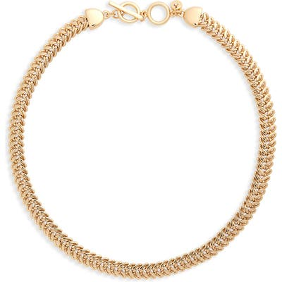 Halogen Foxtail Chain Toggle Necklace