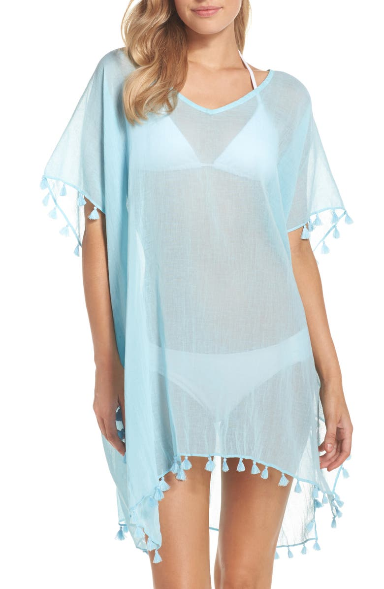 SEAFOLLY 'Amnesia' Cotton Gauze Cover-Up Caftan, Main, color, 400