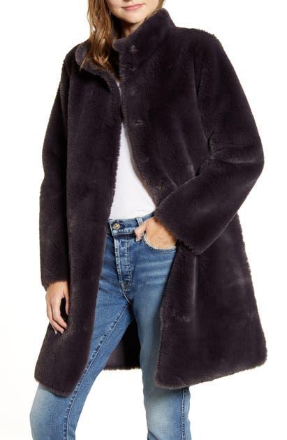 Velvet By Graham & Spencer Coats REVERSIBLE FAUX SHEARLING COAT