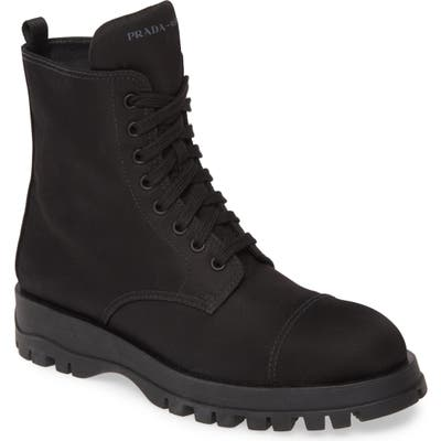 Prada Nylon Combat Boot - Black (Nordstrom Exclusive)
