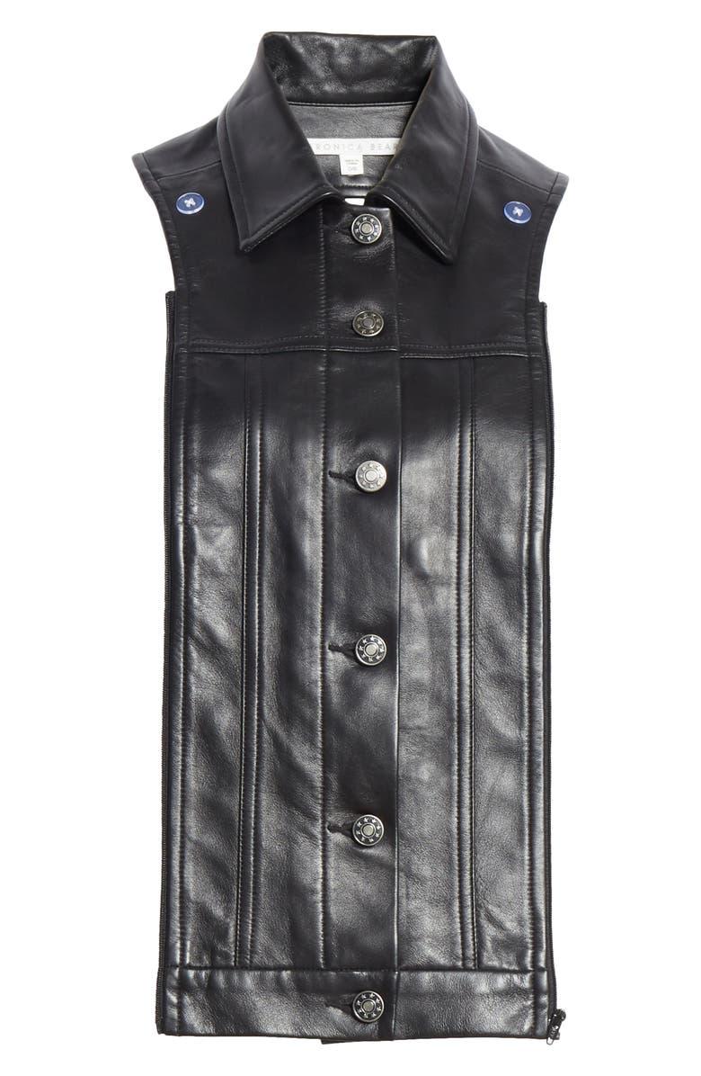 VERONICA BEARD Slate Leather Dickey, Main, color, BLACK