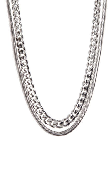 Image of Rebecca Minkoff Dual Layered Chain Necklace
