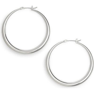 Halogen Medium Graduated Tube Hoop Earrings