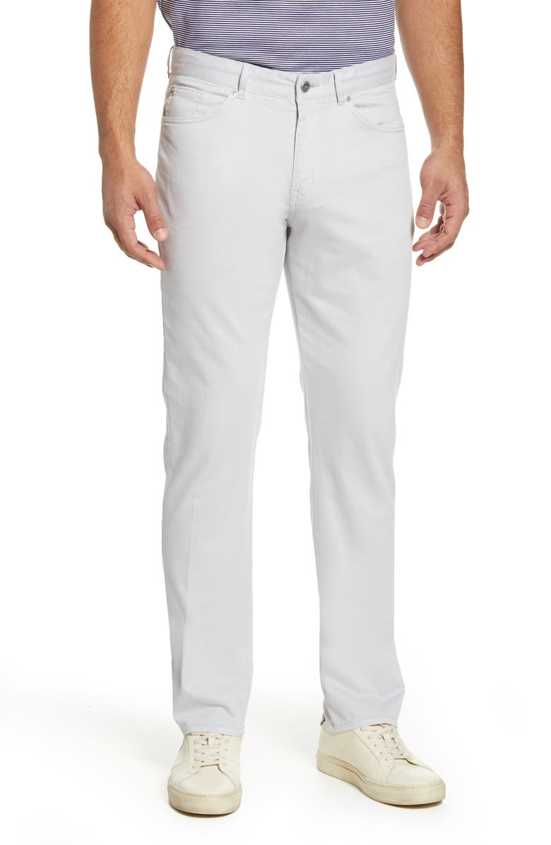 PETER MILLAR Ultimate Sateen Five Pocket Pants, Main, color, LIGHT GREY