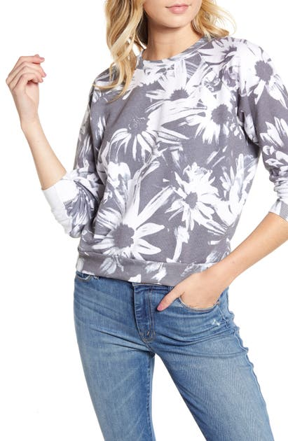 Wildfox Fiona Optic Daisies Sweatshirt In Multi