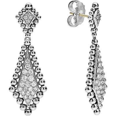 Lagos Caviar Spark Diamond Drop Earrings