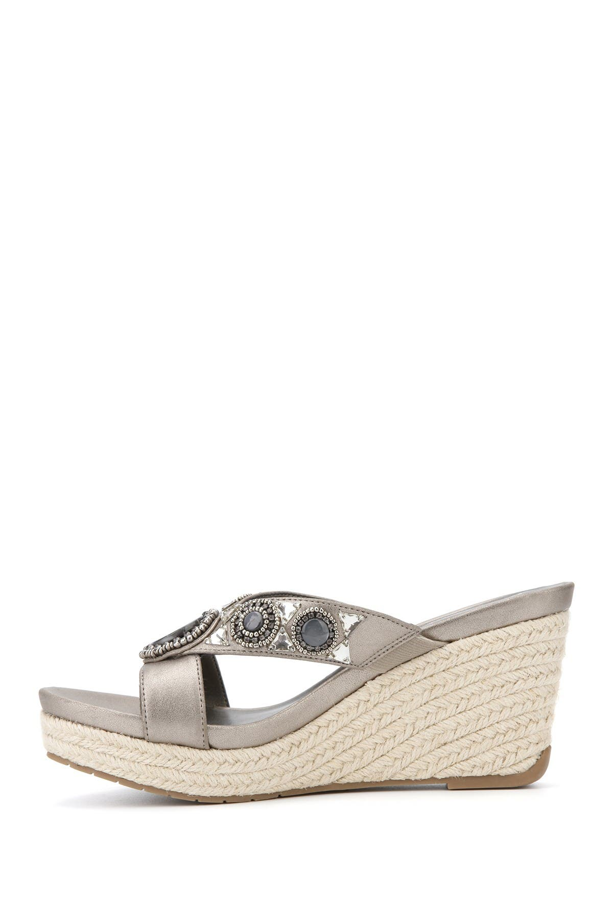 Kenneth Cole Card Glam Thong Toe Esparille In Pewter