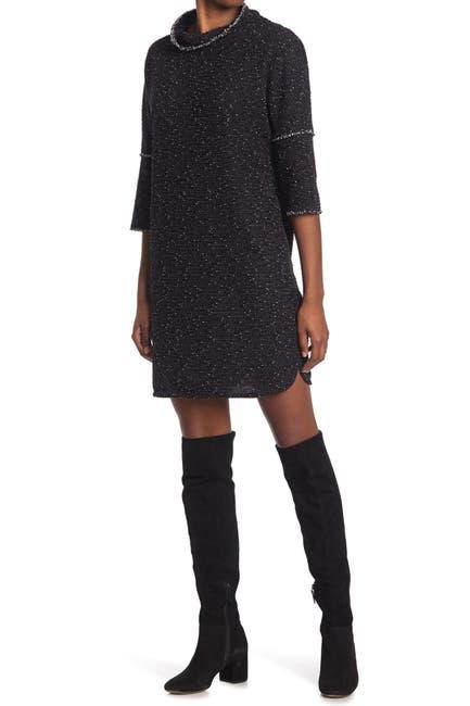 Image of Max Studio Drop Shoulder Woven Dress