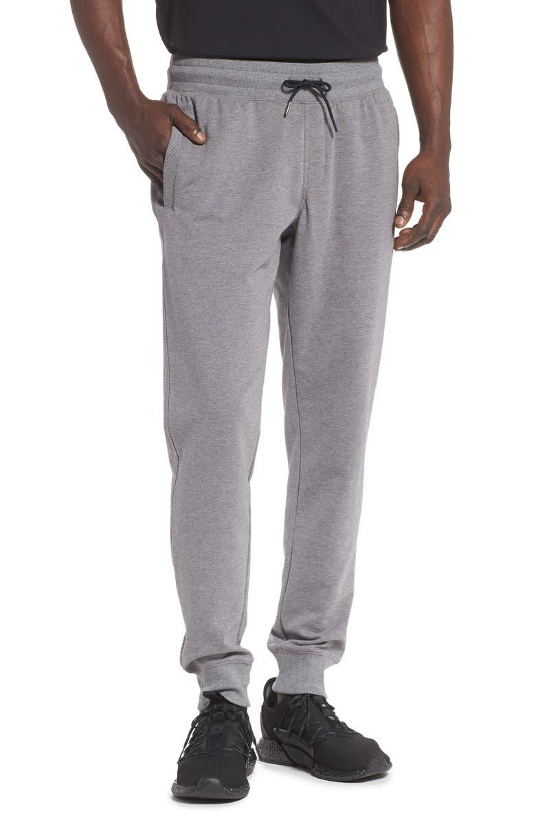 ZELLA Fleece Jogger Pants, Main, color, GREY OBSIDIAN MELANGE